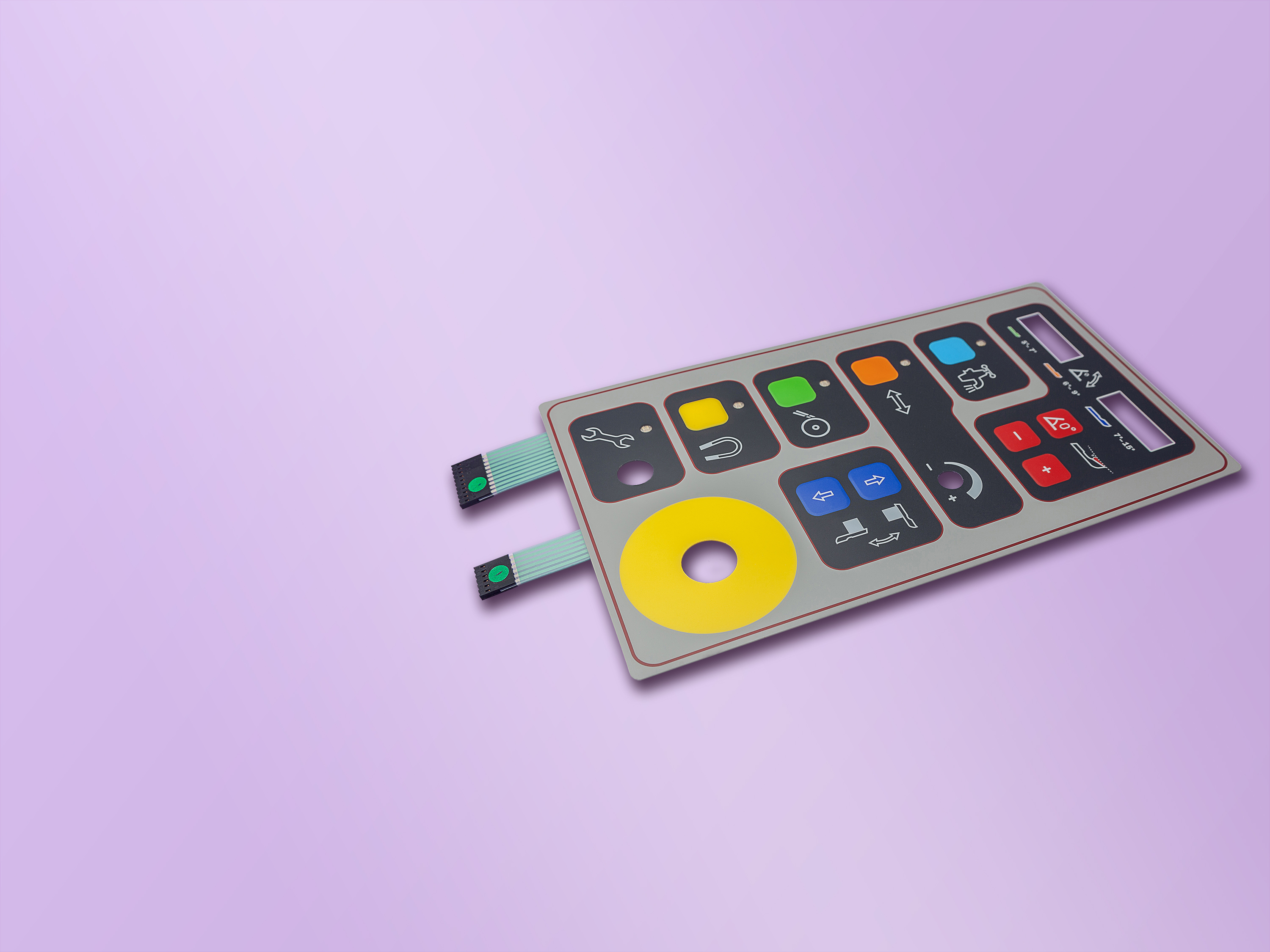A Membrane Keypad for a grinding machine. Interface and Graphic Solutions.