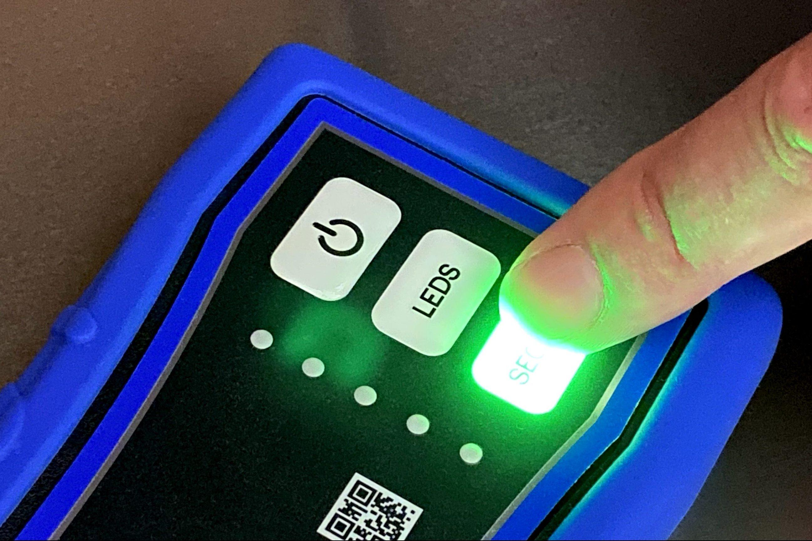 Backlighting - Green LED with finger