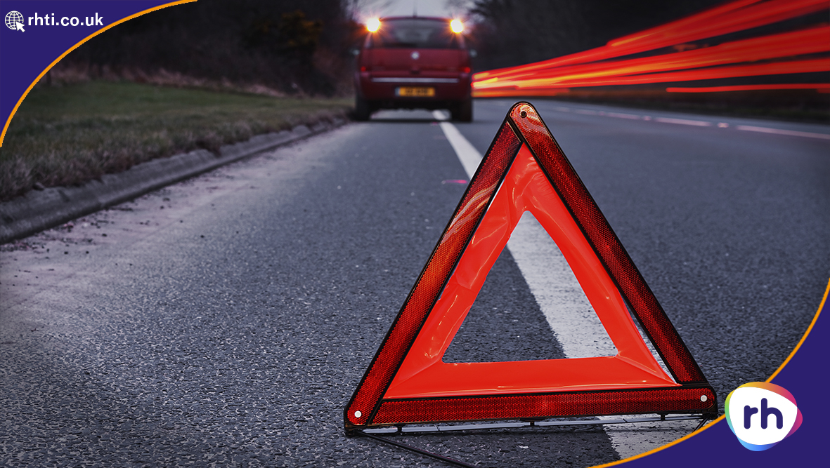 Breakdown Car Warning Triangle RH. The recovery vehicle uses LED driven backlighting to see in low light conditions.